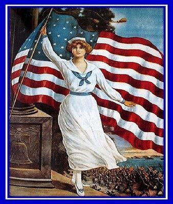30 Custom USA Patriotic Art Personalized Address Labels