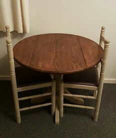 Table and 2 chairs for sale