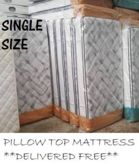 Brand New Single Size PREMIUM Pillow Top Mattress DELIVERED FREE