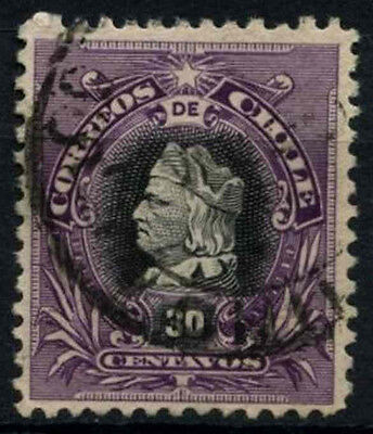 Chile 1901-4 SG#91, 30c Black And Deep Violet, Christopher Columbus Used #D37497