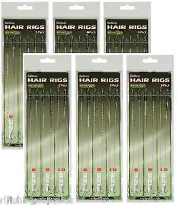 JOBLOT 36 X HAIR RIGS BARBLESS SIZE 6 8 10 CARP FISHING TACKLE RIG