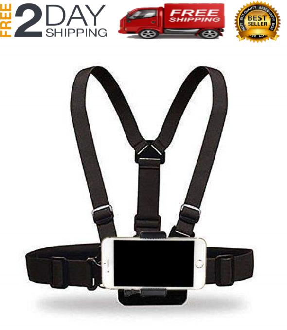 Adjustable Cellphone Selfie Chest Mount Harness Strap Holder