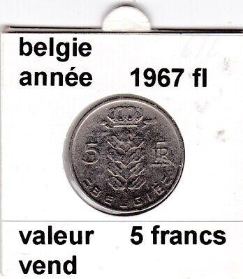 BF 2 )pieces de 5 francs baudouin I 1967 belgie