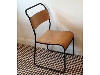 Wanted old stacking chairs stools wooden school