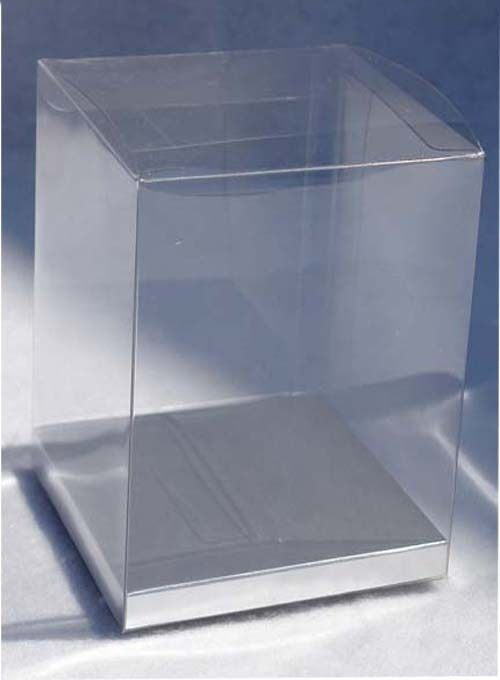 24 Pcs 8x8x12 Quot Plastic Boxes Display Favor W Silver Card Party Wedding Clear Box Ebay