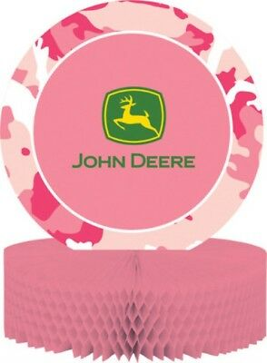 John Deere Pink Camo Honeycomb Centerpiece Decoration Party Supplies](John Deere Party Decorations)