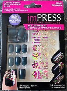 KISS imPRESS Nails Press-On Manicure Designer Kit - Great Color!
