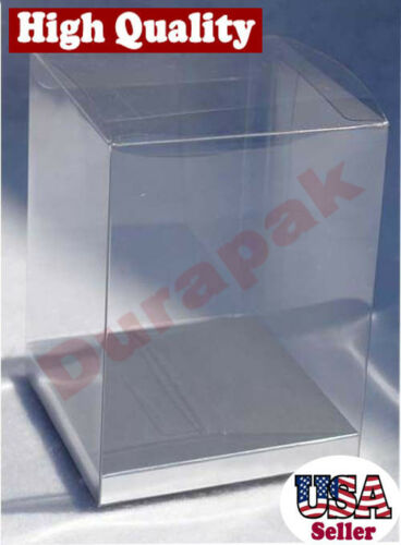 "24~ 5x5x7"" Clear PVC Boxes w/ Silver Card Fragrance Perfume Toy Gift Packaging"