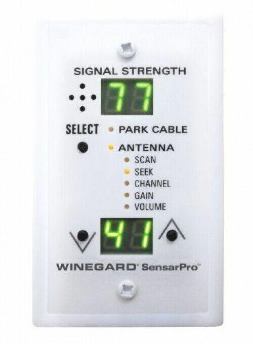 Winegard SensarPro White TV Signal Strength Meter RV Television Antenna New