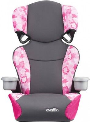 Booster Car Seat High Back Peony Playground With 2 Cup Holde