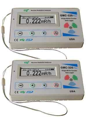 Two Gq Gmc-320v4 Geiger Counter Radiation Detector Meter Beta Gamma X Ray