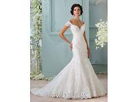 Brand New with Tags -David Tutera Aura 116201 Wedding Dress