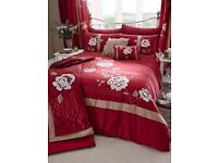BRAND NEW SAVANNAH THROW AND SHAMS - CLARET (KING SIZE)