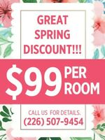 ONE ROOM PAINTING FOR ONLY 99$