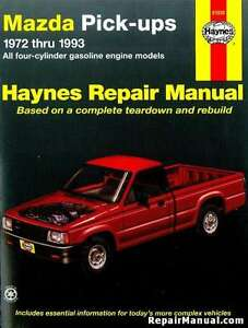 haynes Mazda pickups 1972 to 1993
