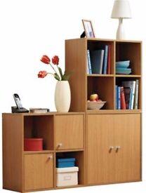 1,2 or 3 Display & Storage Cabinets - Oak effect