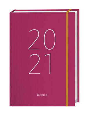 Heye Tageskalender-Buch pink A6 Buchkalender Terminkalender 2021 gebunden