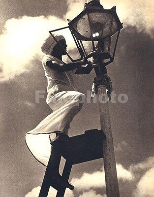1930s Vintage CEYLON Sri Lanka LAMP GIRL Gaslight Fashion Photo Art LIONEL WENDT