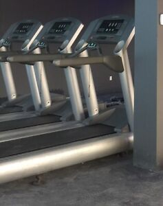 3 x Life Fitness 95Ti Commercial treadmills used