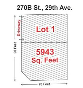 BUILD YOUR DREAM HOME (LOT 1 & LOT 2) 270B STREET