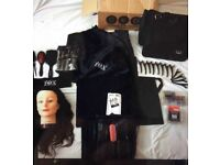 APPRENTICE STUDENT HAIRDRESSING KIT INCLUDES HEADFIX STYLING HEAD, BAG, CAPE, BRUSHES & BAG