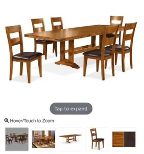 9 piece donning room table