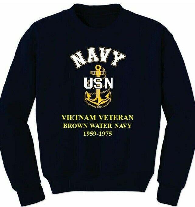 Vietnam Veteran Embroidered Crewneck Sweatshirt
