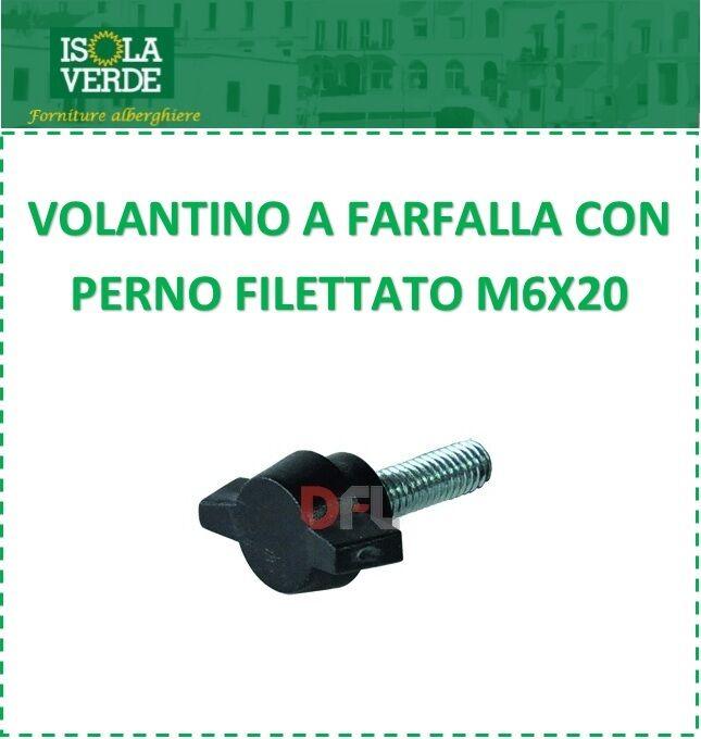VOLANTINO BULLONE A FARFALLA CON PERNO FILETTATO M6X20 037770