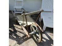 Vintage French Wheelbarrow