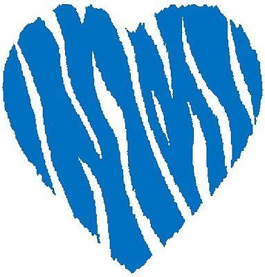 30 Custom Wild Blue Heart Personalized Address Labels