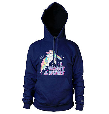 Officially Licensed My Little Pony MLP - I Want A Pony Hoodie S-XXL Sizes