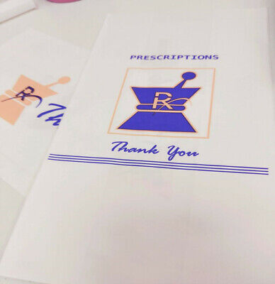 1000pc Prescription Kraft Paper Exit Bags Small - Pharmacy Grade High Quality