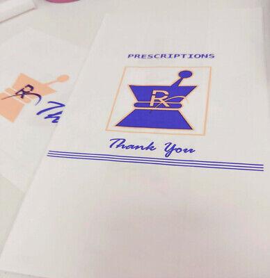 1000pc Prescription Kraft Paper Exit Bags Medium - Pharmacy Grade High Quality