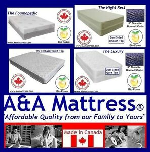 NEW DOUBLE MATTRESSES from $120 +Full BOXPRINGS $80. No Tax Sale