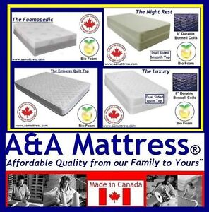 NEW Single Mattresses! GREAT DEALS! GO TO 21 Southdale Rd East