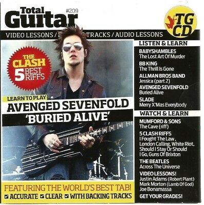 Total Guitar #209 CD/DVD Video/Audio Lessons..New/Sealed..2010
