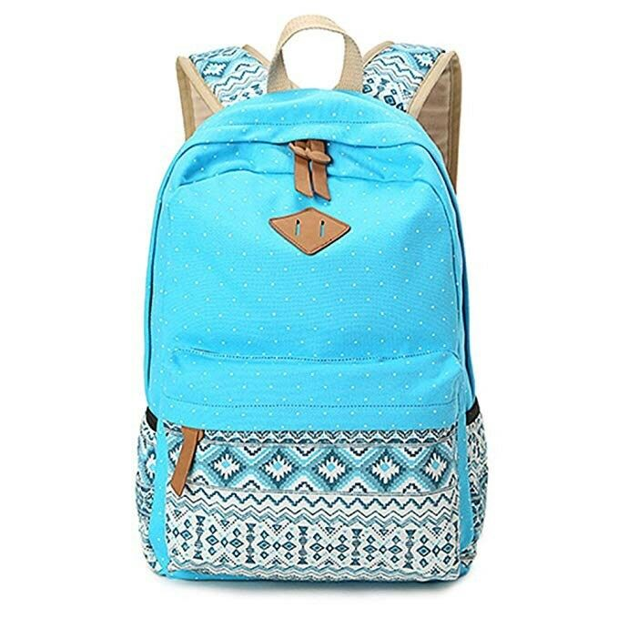 Light blue canvas backpack  71778b89ab378