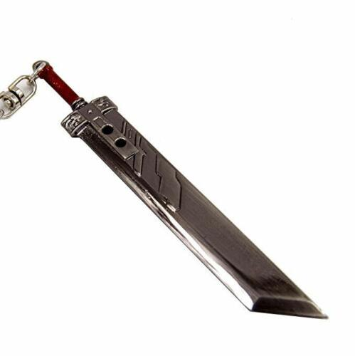 """4"""" Final Fantasy VII 7 Buster Sword Crisis Core Metal Key Chain Keychain Cosplay"""