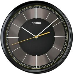 Seiko Round Black Dial Wall Clock QXA612KLH