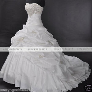 2012-hot-New-Strapless-Wedding-Dresses-Bridal-Gown-In-Stock-Size-6-8-10-12-14-16