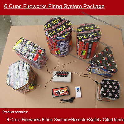Free shipping+6 cues fireworks firing system+wedding equipment+remote