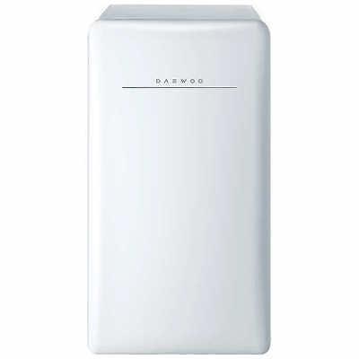 Daewoo Retro 4.4 CuFt Compact Refrigerator, Mini Fridge, White, NO TAX, used for sale  USA