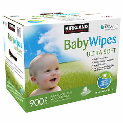 Kirkland Signature Extra-Large Baby Wipes 900-count Hypoallergenic