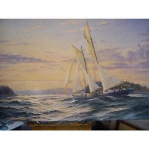 24 x 36 Oil on Canvas Painting - Sailing Home by Jay Langford - Original Paintings and Art