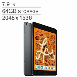 Apple iPad Mini 5TH GEN 7.9 64GB A12 Bionic Wi-Fi Black / Space Grey MUQW2VC/A - WE SHIP EVERYWHERE IN CANADA !