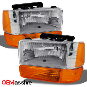 91-96 Dodge Dakota Replacement Clear Headlights Bumper Lights Left + Right Set