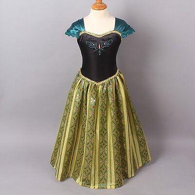 Anna Coronation Costume Frozen (Handmade Frozen Princess Anna Coronation Childrens Dress Costume Ball Gown)