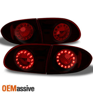 95-02 Cavalier Red Lens LED Ring Tail Lights Repalcement Pair 4pcs Assemblies