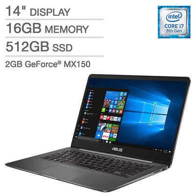 Usado, New Asus ZenBook UX430UN-IH74-GR 14'' FHD Laptop i7-8550U 16GB 512GB SSD MX150 comprar usado  Enviando para Brazil