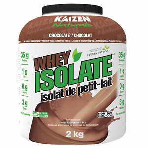 Kaizen Naturals whey protein isolate chocolate supplies 35 g of